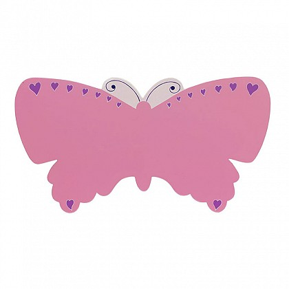 Pink Butterfly Children's Name Plaque